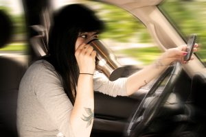 teenagers texting and driving